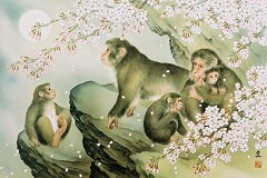 Moon and five monkeys