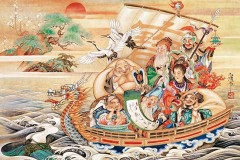 Seven gods in their treasure boat