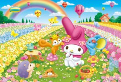 My Melody flower garden