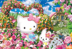 Hello Kitty rosegarden