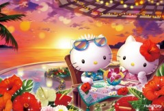 Hello Kitty tropical sunset