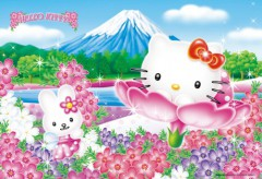 Hello Kitty flower Fuji
