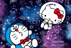 Doraemon and Hello Kitty, galactic encounter