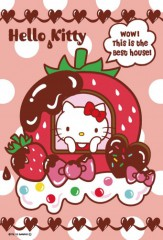 Hello Kitty strawberry house