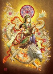 Benzaiten rides the dragon