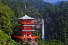 Seiganto-ji and Nachi falls