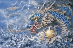 Blue dragon of the east