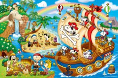 Snoopy's pirate adventure