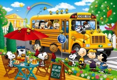 Snoopy's school bus ride