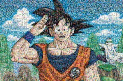Dragon Ball Z mosaic