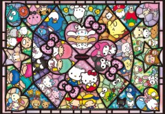 Sanrio characters in stained glass