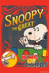 Snoopy King of Cards