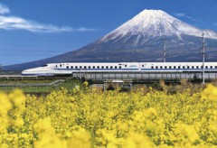 Mt Fuji and the bullet train