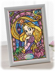 Rapunzel in stained glass