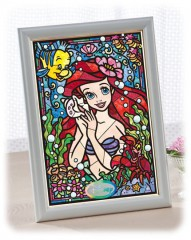 Ariel in stained glass