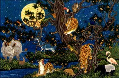Animal world by moonlight