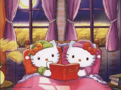 Hello Kitty's bedtime reading