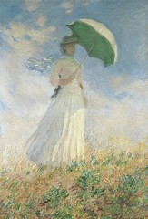 Figure with a parasol